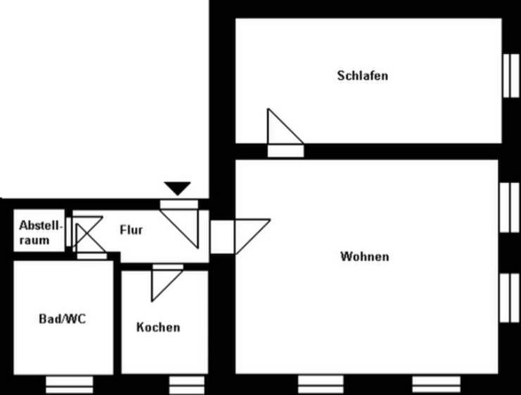 Bild 2: Große 2-Raum-Wohnung am Markt!