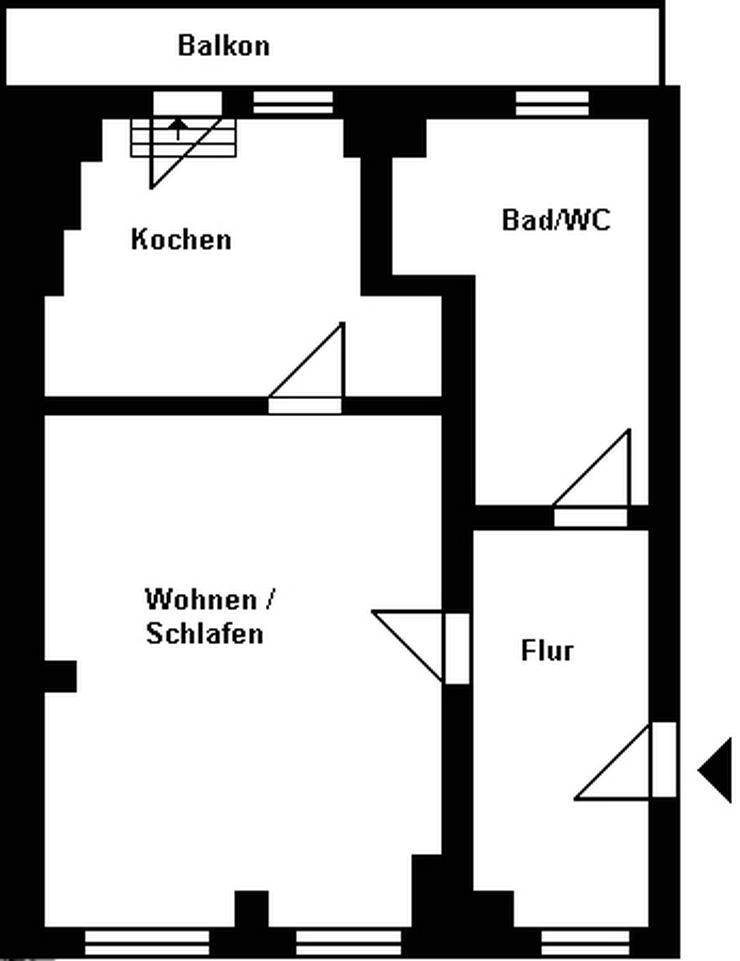 Bild 2: Singlewohnung mit Einbauküche und Balkon!