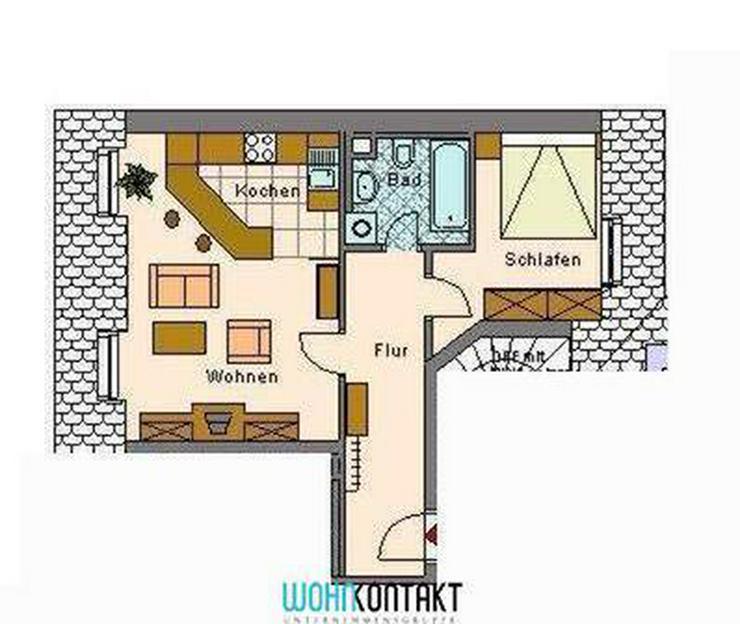 Bild 2: ** Dachgeschoss in Lindenau: schöne Wohnung mit Laminat, EBK und Badewanne **