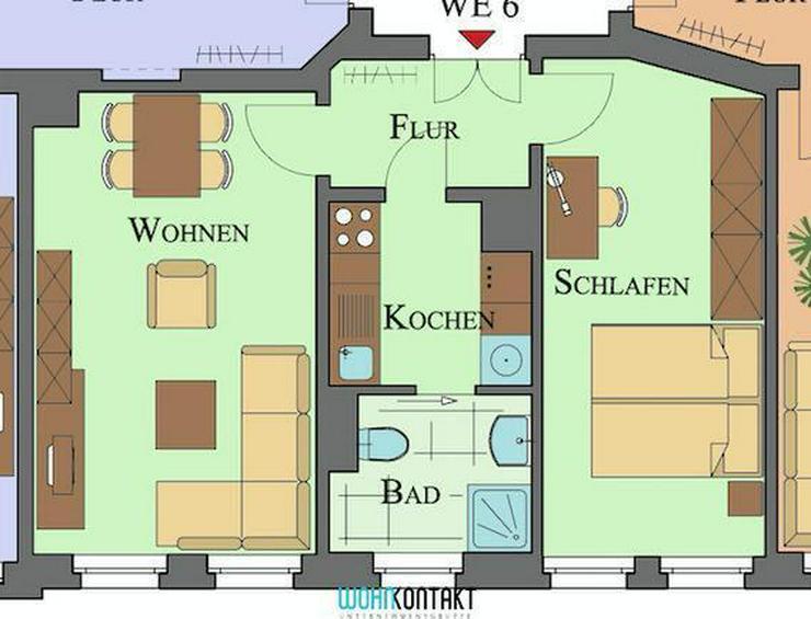 * Schicke 2-Raumwohnung in Taucha * großer Mietergarten - Wohnung mieten - Bild 1