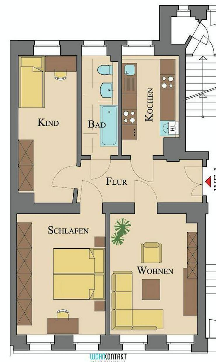 * Den Park direkt vor der Haustür: Schöne 3-RW in ansprechender und ruhiger Lage * - Wohnung mieten - Bild 1