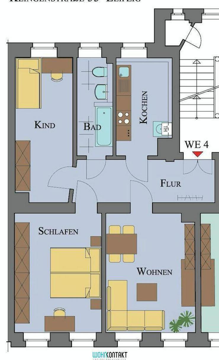 Bild 2: * Den Park direkt vor der Haustür: 3-Zimmerwohnung in ansprechender und ruhiger Lage *