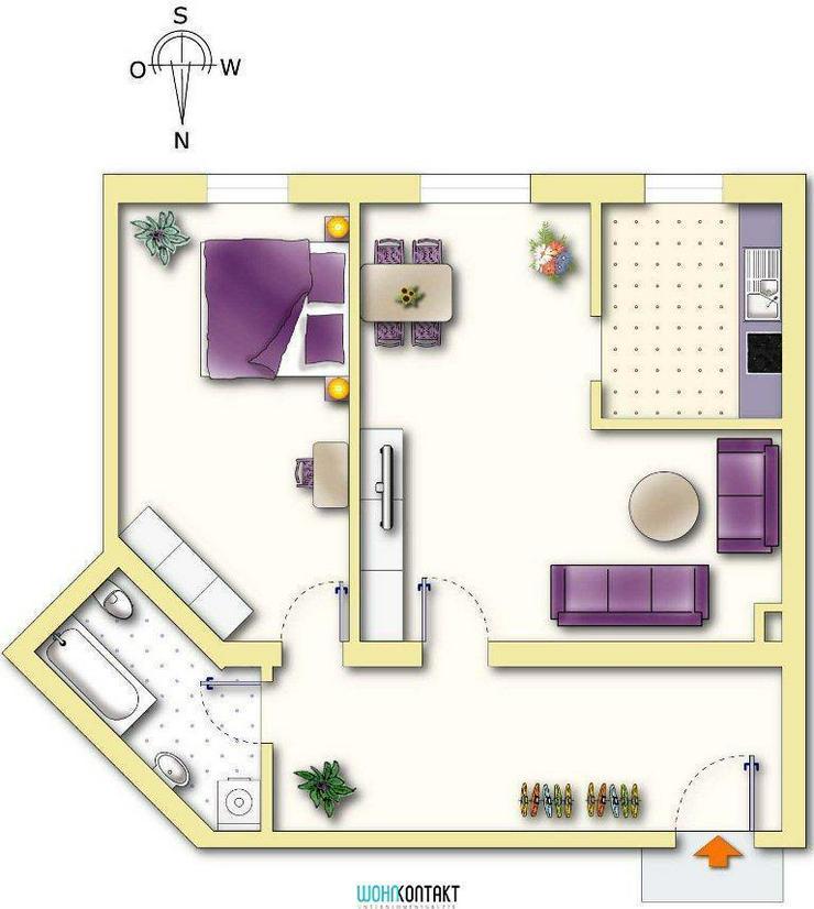 Bild 2: Schicke 2-Zimmer-Wohnung * EBK kann übernommen werden * schöne Wohnlage