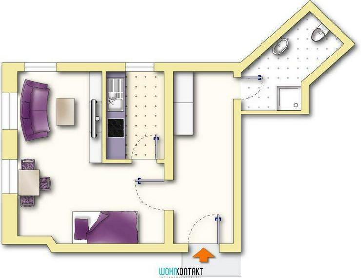 Die erste eigene Wohnung? * Schicke 1-Zimmer-Wohnung in schöner Wohnlage - Wohnung mieten - Bild 1