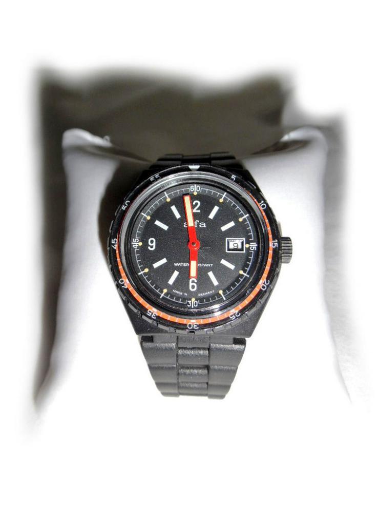 Seltene Armbanduhr von Alfa - Herren Armbanduhren - Bild 1