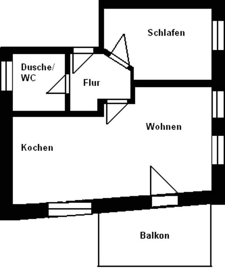 2-Raum-Wohnung mit Balkon im Stadtzentrum! - Wohnung mieten - Bild 1