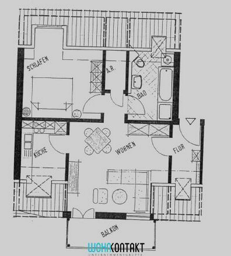 Tolle 2-Zi.-DG-Wohnung mit Balkon im schönen Gohlis ** - Wohnung mieten - Bild 1
