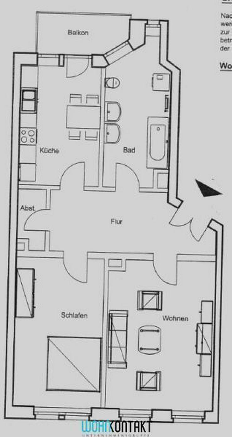 Bild 2: Schmucke 2-Zi.-Wohnung * Tolle Lage in Gohlis * Balkon/ASR/Parkett/Wannenbad