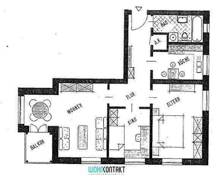 * Schmucke 3-Raumwohnung mit Balkon in Gohlis ** - Wohnung mieten - Bild 1