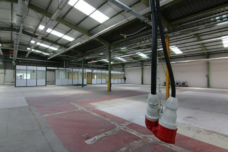 Bild 6: BIS 1500 m² PRODUKTIONS- UND LAGERFLÄCHEN AB 1,99 EUR/m²* IDEAL FÜR KURZZEITLÖSUNGEN