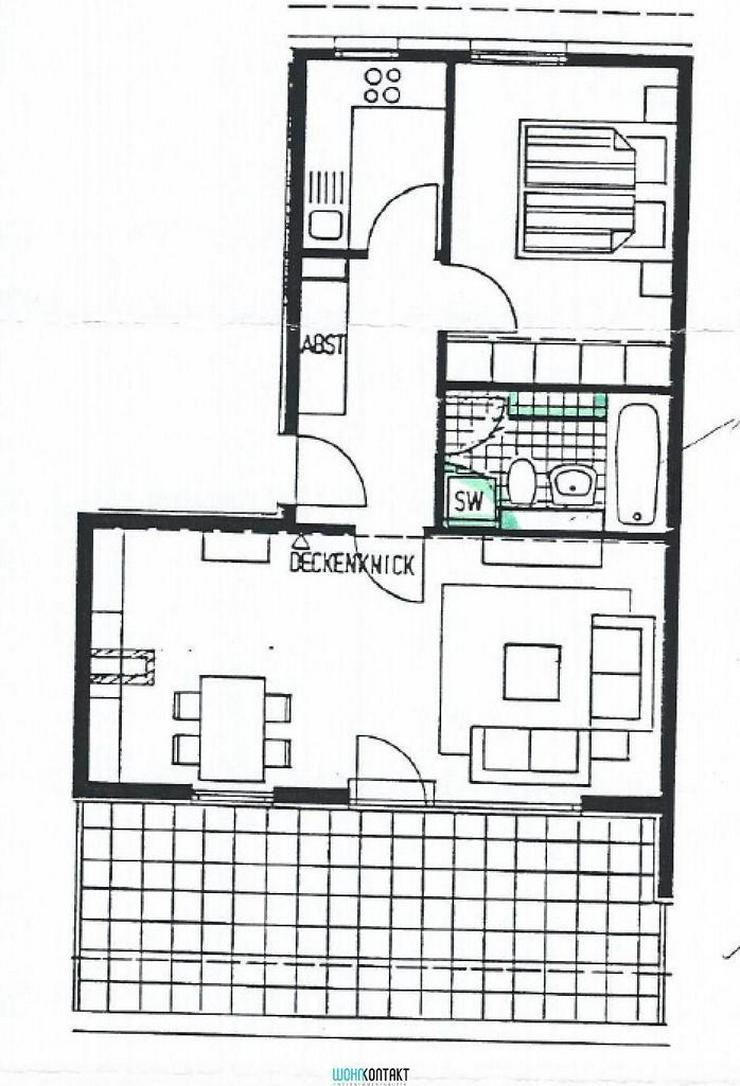 Bild 2: Taucha * Wohlfühl-2ZKB mit sehr großer Terrasse und großem Wohnzimmer * schön sonnig *