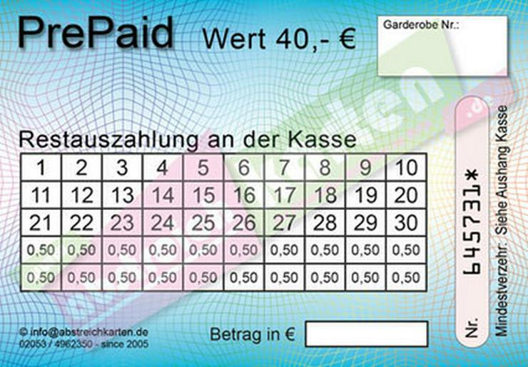 Bild 12: Abstreichkarten / Verzehrkarten für Veranstaltungen