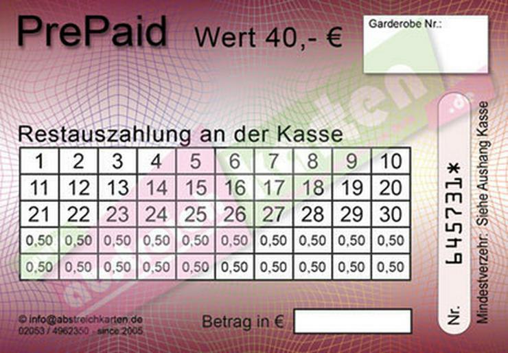 Bild 11: Abstreichkarten / Verzehrkarten für Veranstaltungen