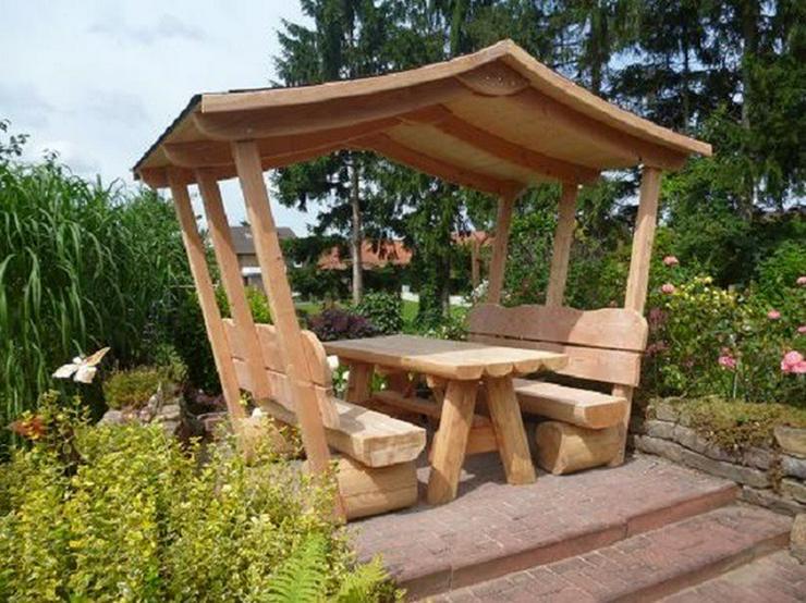 Gartenmöbel mit Dach, Gartengarnitur, Holzmöbel