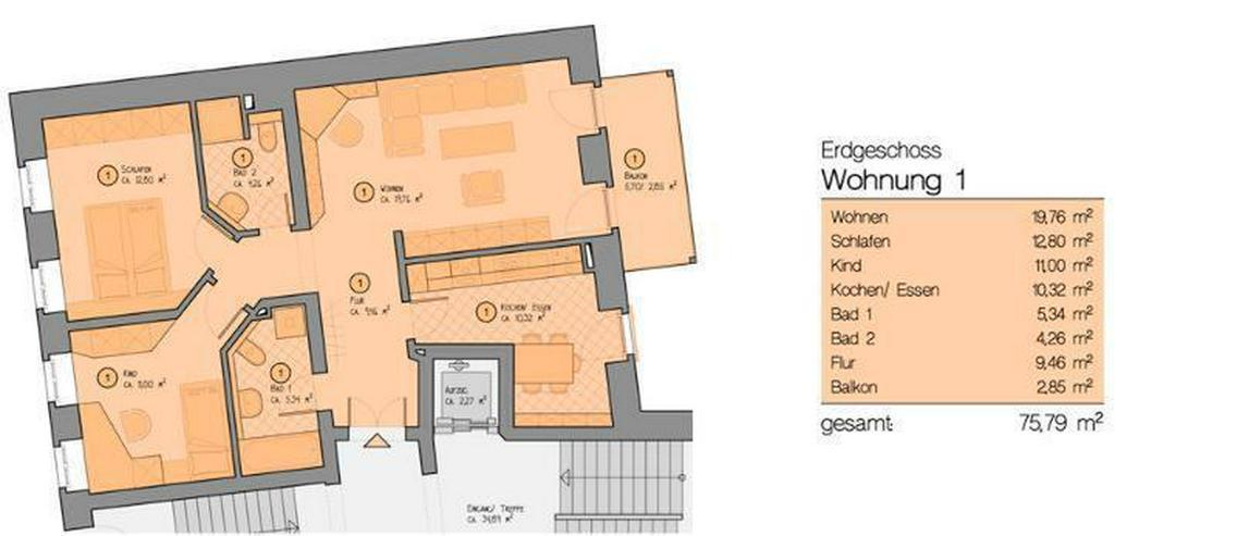 Bild 2: ** Hochwertig sanierte 3-Zi-Wohnung mit Balkon in Gohlis *