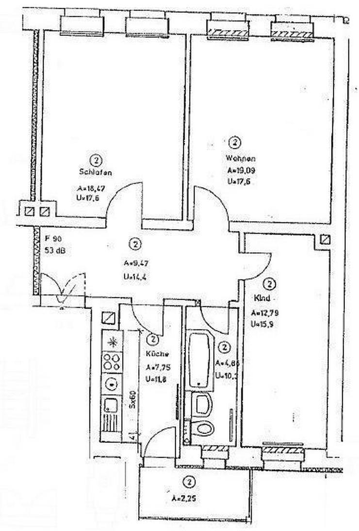 Bild 2: * Familien aufgepasst * 3-Zi. mit Balkon und Parkett in Gohlis *
