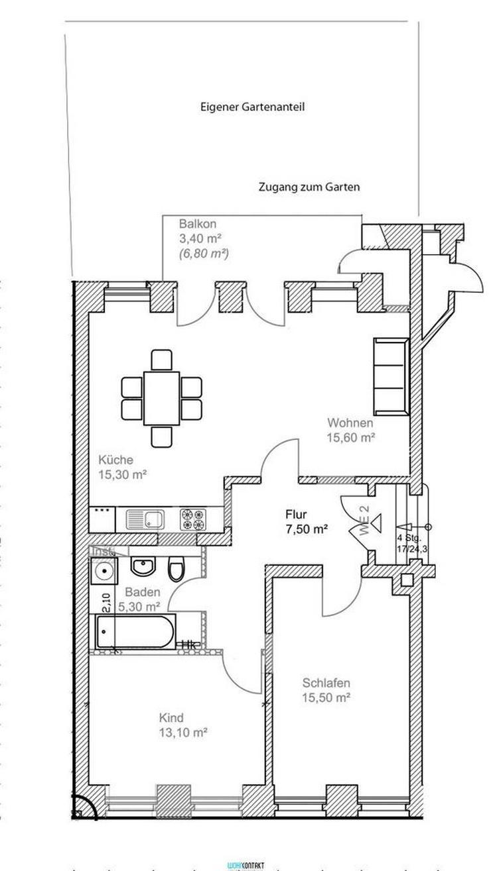 ERSTBEZUG nach hochwertiger Sanierung * 3 Zimmer * eigener Garten * Parkett/FB-Hzng. * u. ... - Bild 1