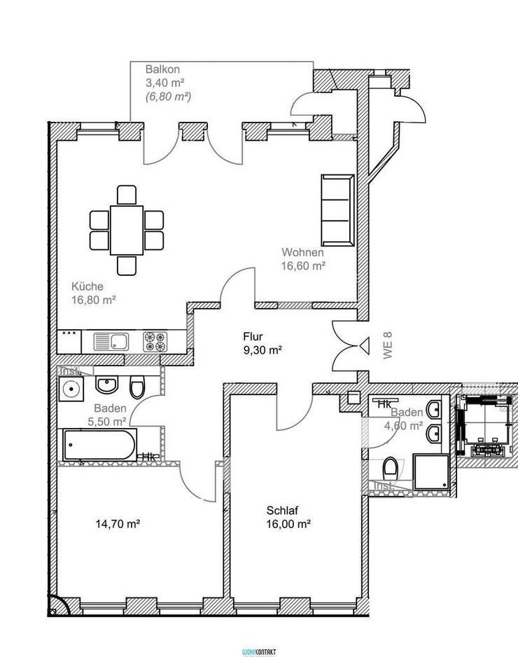 ERSTBEZUG nach hochwertiger Sanierung * 3 Zimmer * Balkon * zweites Bad * Parkett/FB-Hzng.... - Bild 1