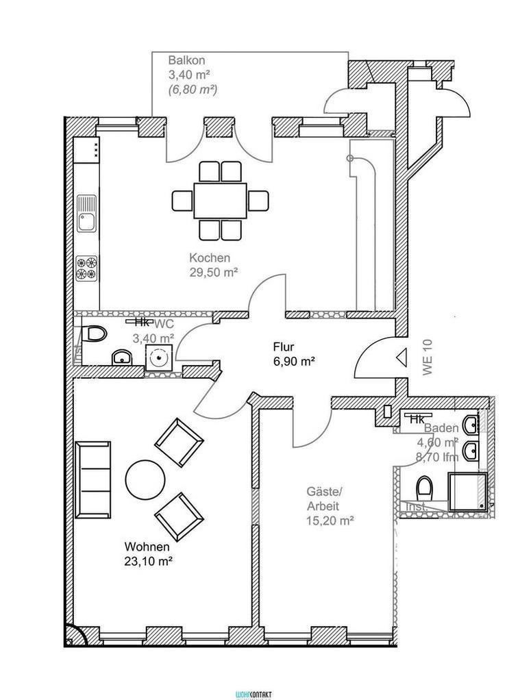 ERSTBEZUG nach hochwertiger Sanierung * 4 Zimmer * Maisonette * Balkon+Terrasse * zweites ... - Wohnung mieten - Bild 1