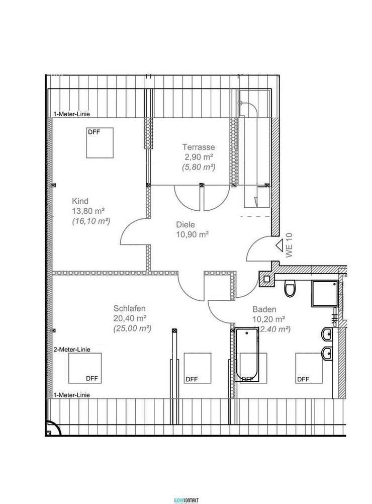 Bild 2: ERSTBEZUG nach hochwertiger Sanierung * 4 Zimmer * Maisonette * Balkon+Terrasse * zweites ...
