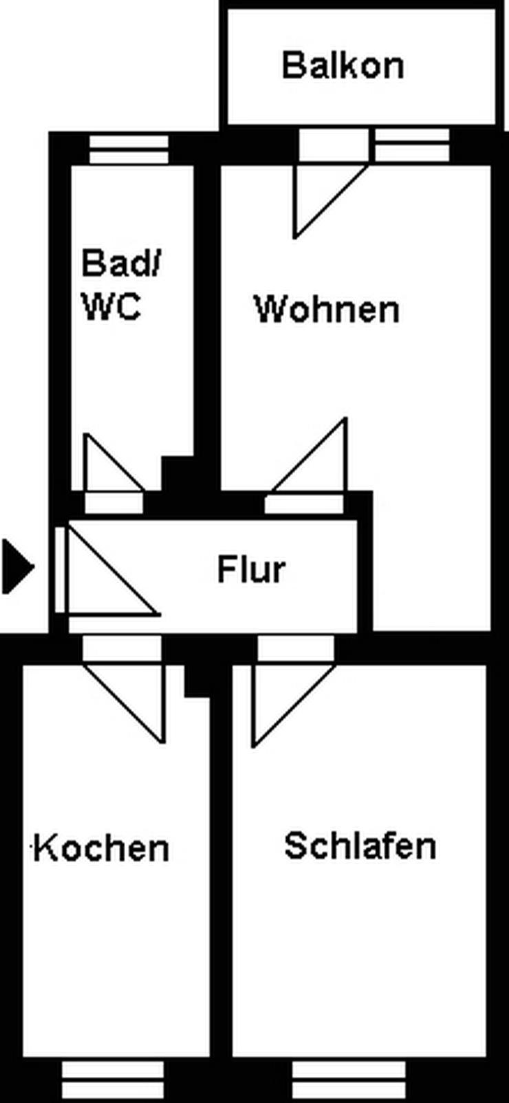 Kleine 2-Raum-Wohnung mit Balkon