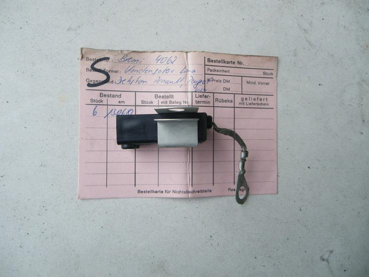 Bild 3: RENAULT PEUGEOT Kondensator Entstörfilter 4062