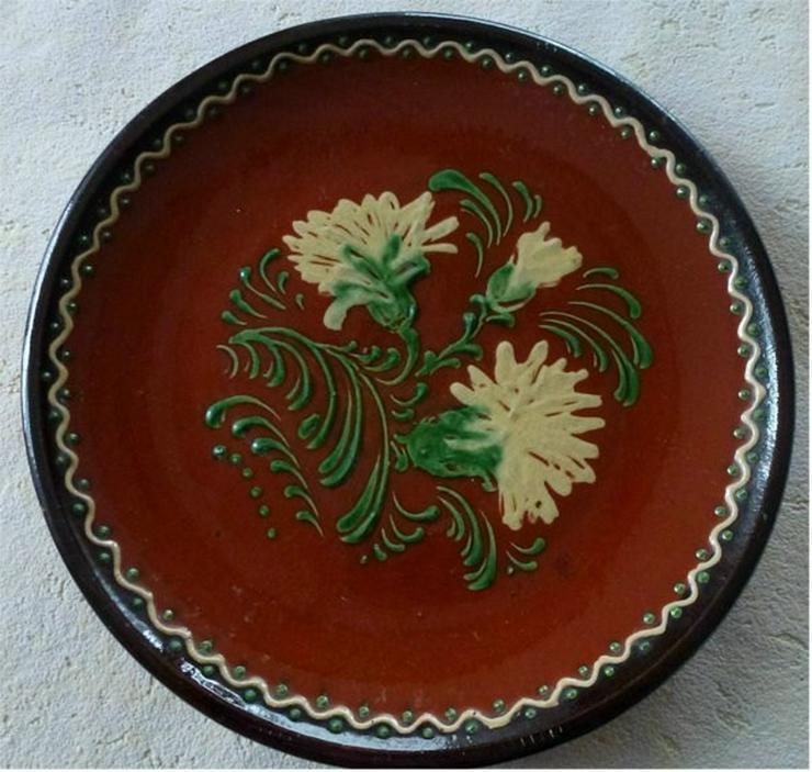 alter Handbemalter Teller