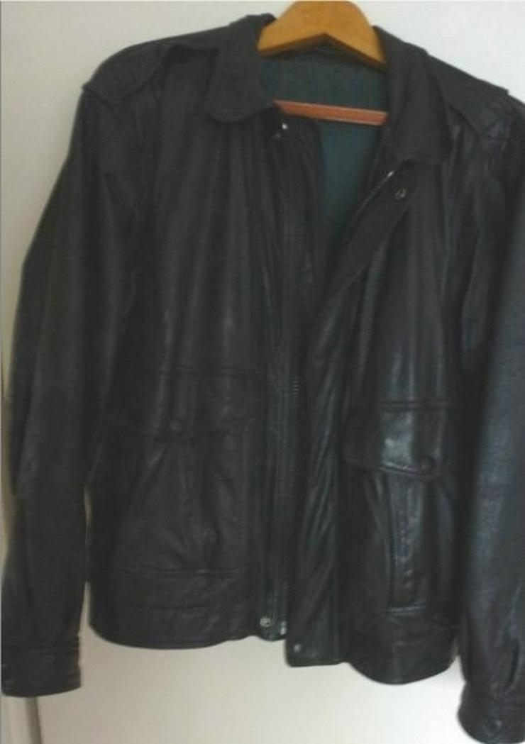 Lederjacke schwarz. Aus Echt Leder