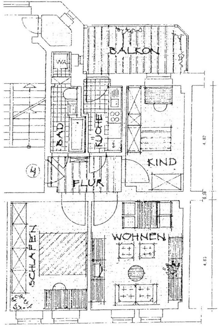 Bild 3: Chemnitz-Hilbersdorf frisch renovierte 3 Zimmerwohnung mit Balkon in einem rotem Klinkerba...