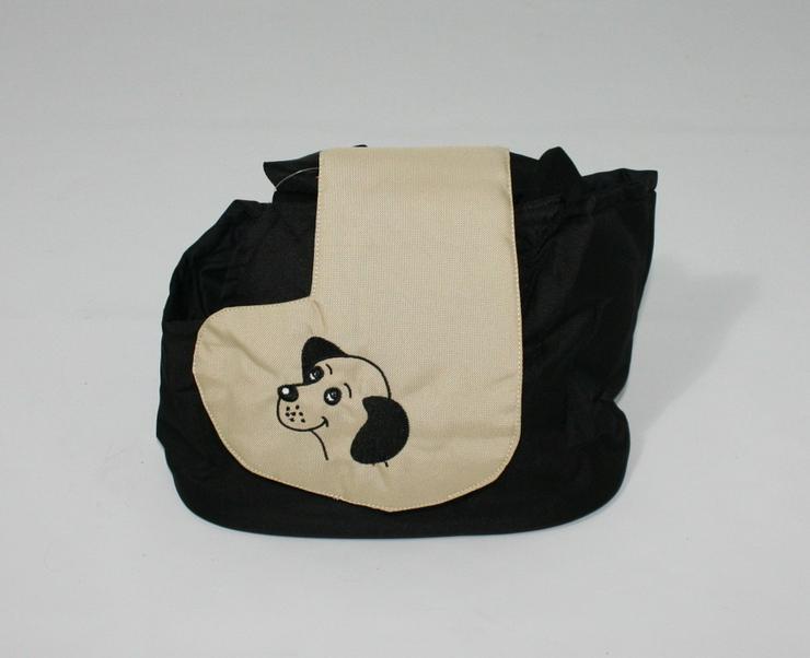 Hundetragetasche Modell Burcina schwarz / bei
