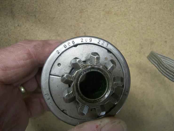 Bild 5: MERCEDES BOSCH Anlasser  Ritzel 2 006 209 221