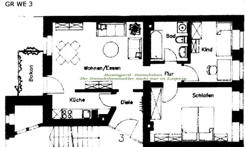 Bild 14: Erdgeschosswohnung mit Balkon und 3 Zimmer in Chemnitz zu vermieten