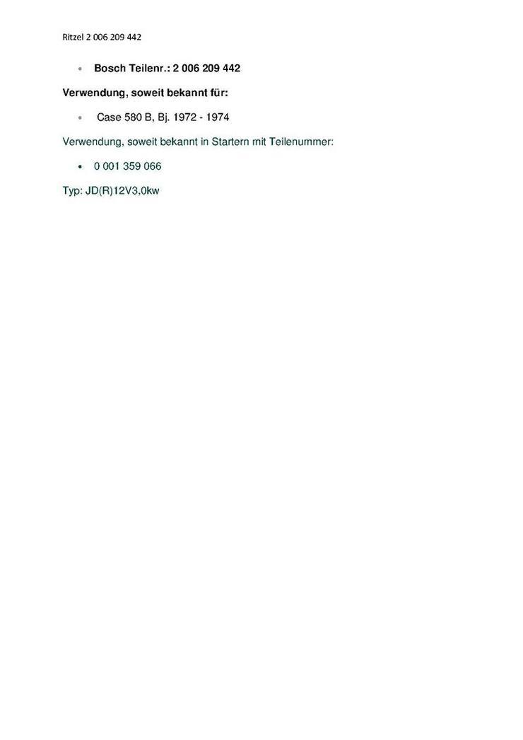 Bild 5: CASE BOSCH Getriebe mit Ritzel 2 006 209 442