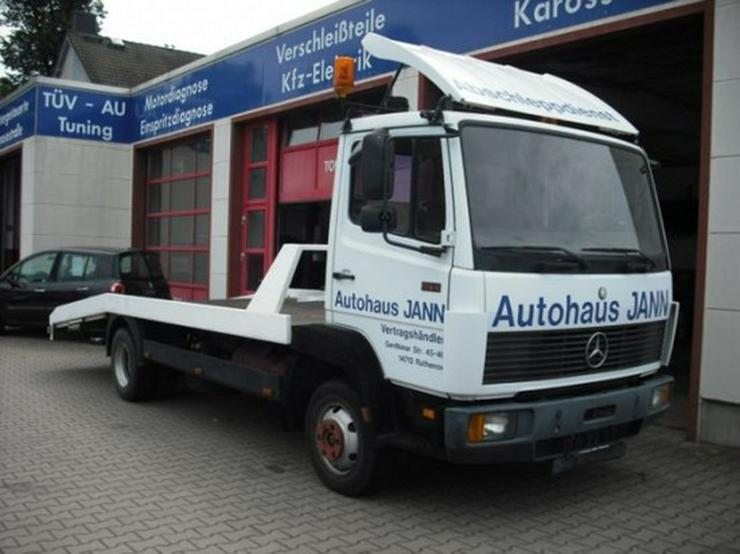 Mercedes-Benz 814 D-Autotransporter-Abschleppwagen-Seilwinde
