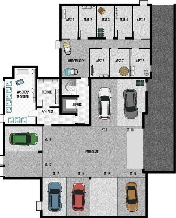 Bild 6: Neubau-Wohnung mit 3,5 Zi, EG, Rottenburg a.N.