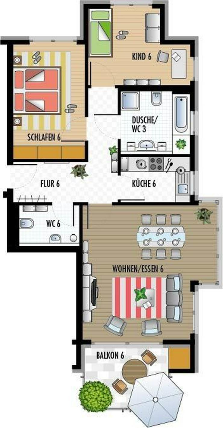 Bild 3: Neubau-Wohnung mit 3,5 Zi, EG, Rottenburg a.N.