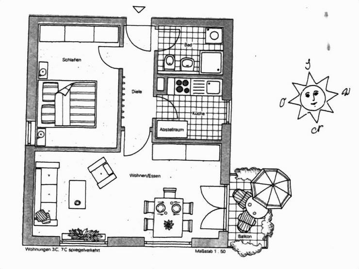 """Bild 2: KAPITALANLAGE - 2 Zimmer-Eigentumswohnung """" Am Zoopark"""" in einer ruhig gelegenen Wohnanlag..."""