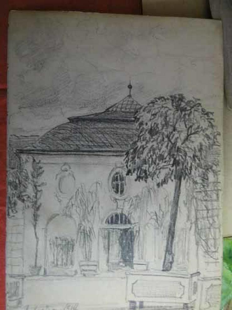 Bild 3: Skizzenbuch mit Zeichnungen unterschiedlicher