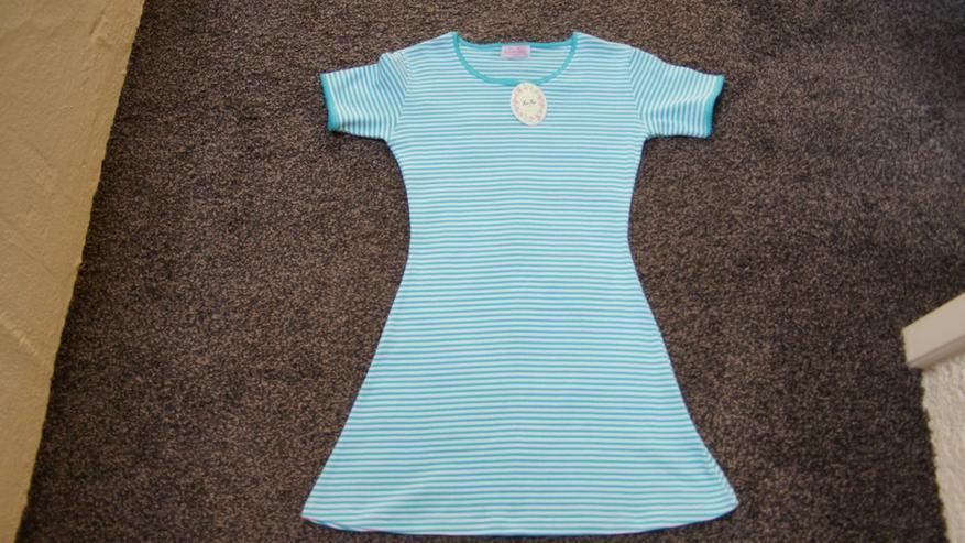 Bild 3: Kleid, Gr. 140, grün-weiß, neu