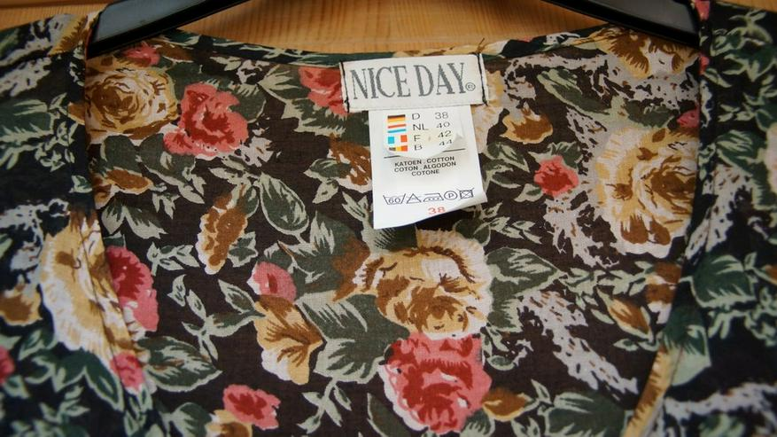 Bild 2: Kleid, Gr. 38, schwarz-bunt, Nice Day, neu