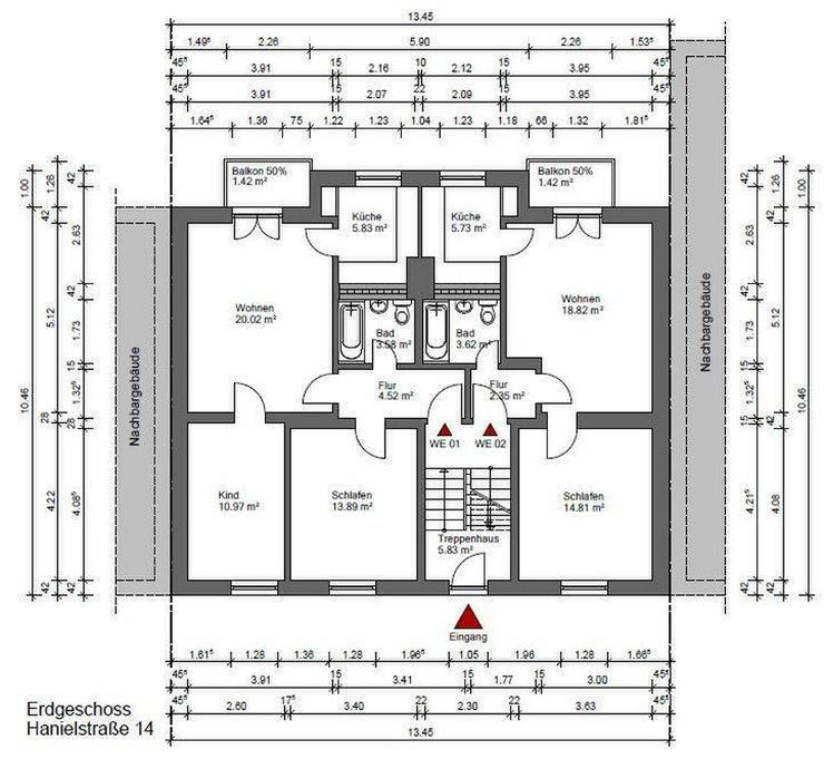 Top sanierte 3 Zimmer Wohnung mit Balkon in der Nähe des Amtsgerichts - Bild 1