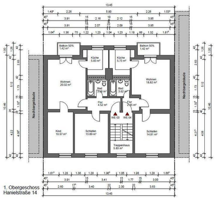 Top sanierte 3 Zimmer Wohnung mit Balkon in der Nähe des Amtsgerichts - Wohnung mieten - Bild 1