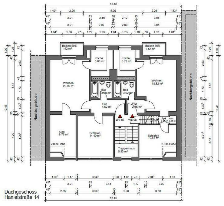 Top sanierte 2 Zimmer Wohnung mit Balkon in der Nähe des Amtsgerichts - Wohnung mieten - Bild 1