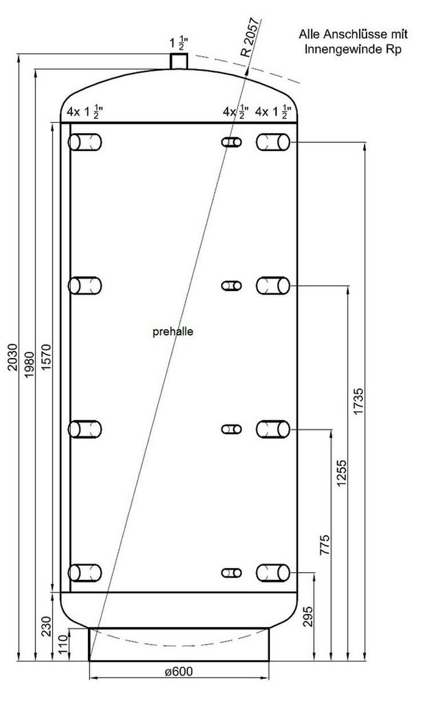 1a pufferspeicher 1000 l mit 90 anschluss in halle westfalen auf. Black Bedroom Furniture Sets. Home Design Ideas