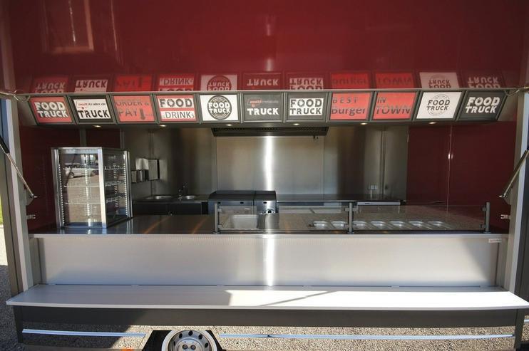 Bild 2: 6,00m x 2,30m Burger Food Truck