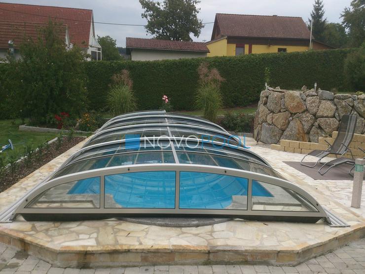 Bild 3: Pool Abdeckung, Ueberdachung, Schiebehalle