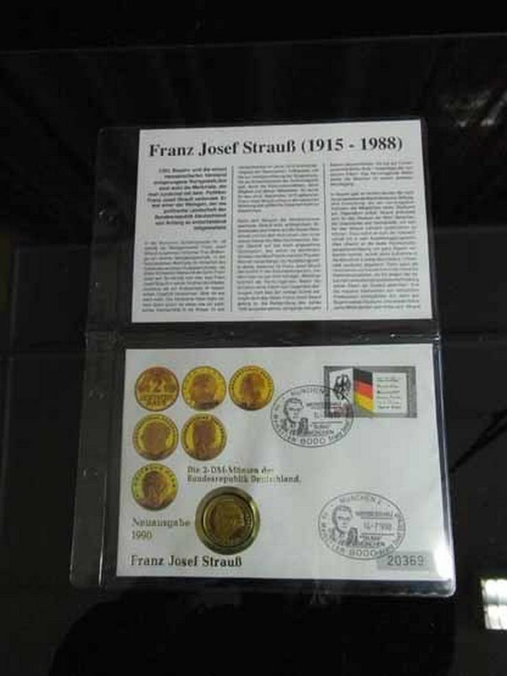 BRD Numisbrief 1990 Franz Josef Strauß / vergo
