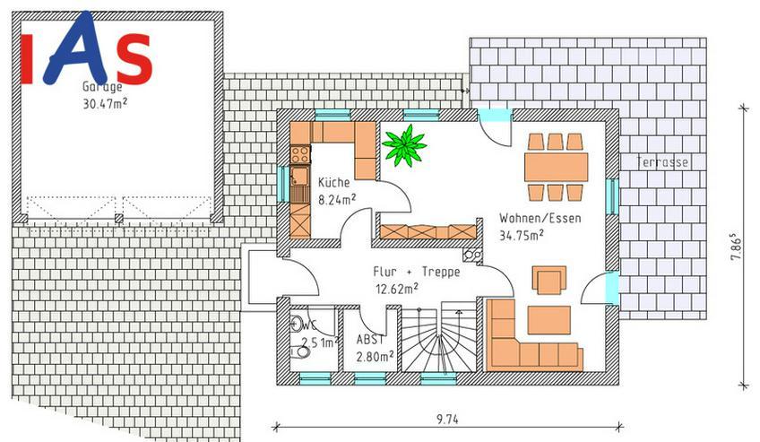 Bild 2: Herrliche Ortsrandlage ... und herrliches EFH mit Einliegerwohnung! Neubau!
