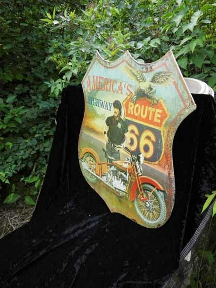 Bild 2: Eisen Wandschild ROUTE 66 / Blechschild Highwa