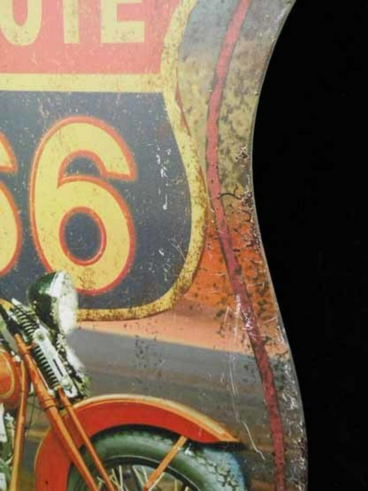 Bild 4: Eisen Wandschild ROUTE 66 / Blechschild Highwa